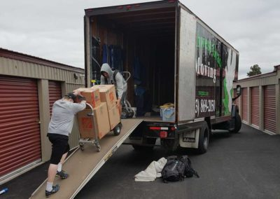 Casey and Kieran loading our truck for a long distance move